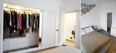 Protagonista della camera matrimoniale il letto con base circolare rivestito di pelle grigia #casa #cosedicasa #home #house #bedroom #arredamento #arredare #design #cameradaletto