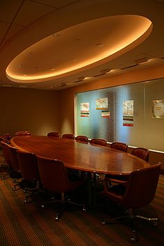 Conference Room with coffered ceiling