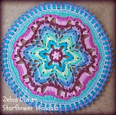 mandala- free pattern http://zootyowlcards.blogspot.co.uk/2014/04/starflower-mandala-pattern.html