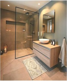 Koupelna Top 5 Bathroom Inspiration this weekThe Perfect Scandinavian Style Home Bathroom Tile Designs, Modern Bathroom Design, Bathroom Colors, Bathroom Interior Design, Bathroom Ideas, Bathroom Bath, Small Spa Bathroom, Scandinavian Bathroom Design Ideas, Small Bathroom Plans