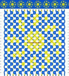 Normal Friendship Bracelet Pattern #10649 - BraceletBook.com