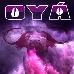 Orisha, Oya Goddess, Spirits Of The Dead, Afro Cuban, Water Buffalo, Storms, Lightning, Animal, Tattoos