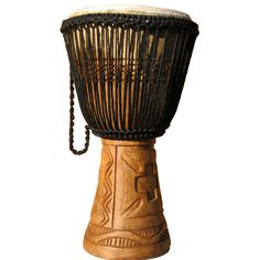 Hand carved Djembe Drum http://worldhanddrums.com/djembe-drums.html