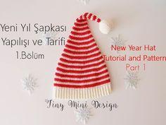 Tığ İşi Yeni Yıl Şapkası Yapılışı 1.Bölüm-Crochet New Year Hat Tutorial ...