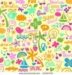 colorful summer graphics by Nanna Studio, via ShutterStock