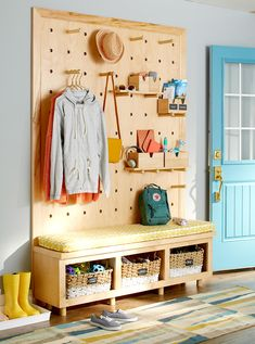"Fantastic ""laundry room storage diy cabinets"" information is offered on our website. Check it out and you wont be sorry you did. Pegboard Craft Room, Pegboard Organization, Kitchen Pegboard, Craft Rooms, Pegboard Display, Ikea Pegboard, Painted Pegboard, Organization Ideas, Mudroom Organizer"