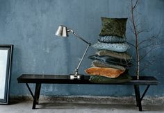 autumn decorating - teal green jewel tones rustic modern sophisticated