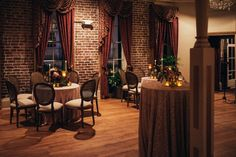 Sapphire Events | Eric James Photography | New Year's Eve Wedding | Gothic Wedding | Twilight Inspired Wedding | French Quarter Wedding | New Orleans Wedding | Pink Black Red Wedding | Muriel's Restaurant | Pink lace linens | red centerpieces
