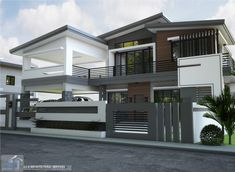 New House Exterior Design Master Suite Ideas Flat Roof House, Screen House, Facade House, 2 Storey House Design, House Front Design, Modern House Design, Minimalist House Design, Style At Home, Bungalow Haus Design