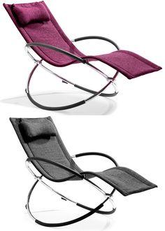 Flamenco Rocking Orbital Modern Lounge Chair
