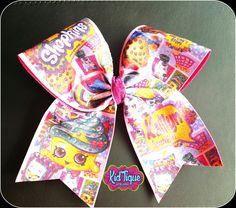 Shopkins Birthday party Cheer bow for the princess in your life!!! #KidTiqueofMcallen #shopkinsgirl #shopkinsbirthday #shopkinsideas
