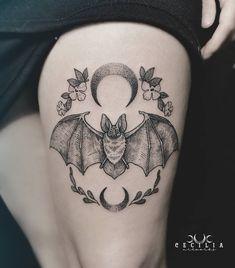 Modern Tattoos, Unique Tattoos, Black Tattoos, Small Tattoos, Nape Tattoo, Head Tattoos, Sleeve Tattoos, Goth Tattoo, Devil Tattoo