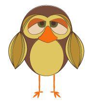 Day 354: Retro Nasal Owl from http://owladay.wordpress.com/