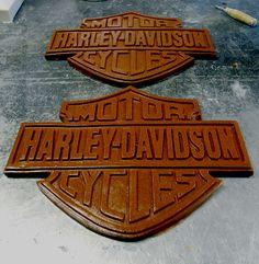 Harley Davidson signs made from Namibian Desert sand