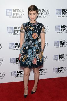 """Kate Mara in Valentino Pre-Fall 2015 attends the 53rd New York Film Festival - """"The Martian"""" Premiere on September 27, 2015"""