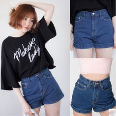 Brandwen Brand Korean Fashion Top Sale Summer High Waist Denim Shorts Plus Size Female Short Jeans for Women Ladies Hot Shorts