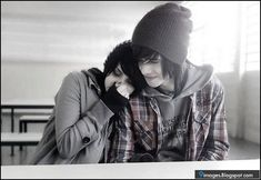 cute emo teen couples | Emo-couple, love, hug, cute, feelings