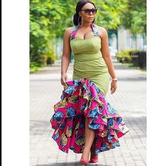 There are a lot of ways to make yourself stand out with an Ankara fabric, Even if you are reasoning on what to create and slay with an Nigerian Yoruba dress styles. Nigerian Yoruba dress styles for weekends come in a lot of patterns and designs. African Attire, African Wear, African Women, African Dress, African Style, Nigerian Dress Styles, Ankara Gown Styles, Ankara Gowns, African Prom Dresses
