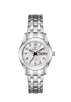 (CLICK IMAGE TWICE FOR UPDATED PRICING AND INFO) #watch #watches #ladieswatches #womenswatches  Bulova Ladies Day Date Bracelet Watch 96N100  - See More Womens Watches at http://www.zbuys.com/level.php?node=6618=womens-watches