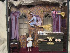 mixed media dollhouses   interior, Gothic House attic   Flickr - Photo Sharing!