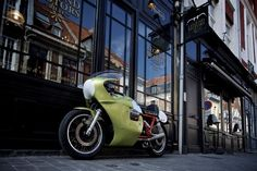 "Moto Guzzi 750 Cafe Racer Endurance 1972 ""Ex Thierry Guidoum"" - Legend Motors #motorcycles #caferacer #motos   caferacerpasion.com"