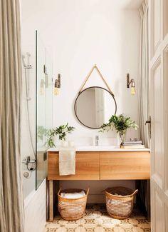 Ein komplettes Badezimmer in 5 - lexi pins Bathroom Interior Design, Interior Design Living Room, Living Room Decor, Wooden Stools, Small Bathroom, Unit Bathroom, Bathroom Marble, Hygge, Interior And Exterior