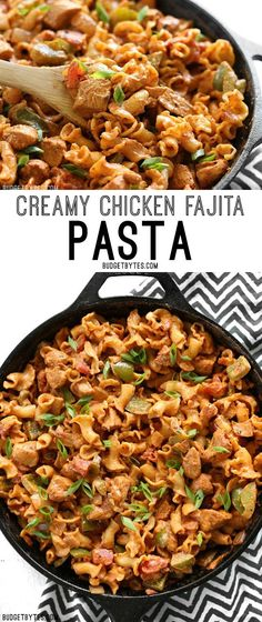 Creamy Chicken Fajita Pasta is a fast and delicious weeknight meal the whole family will love.