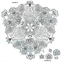 Triangular Doily - very pretty, different - with chart