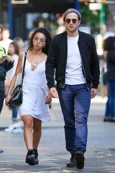 Heading on holiday with your BF? Channel FKA twigs and R-Patz in NY. White dress + walking boots = under the airline weight limit and totally crushable.