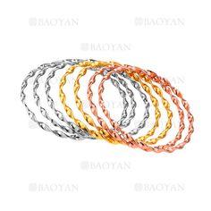 7 piezas pulseras de moda de tres colores en acero-SSBTG264186