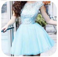 Tiffany blue party dress. Love.