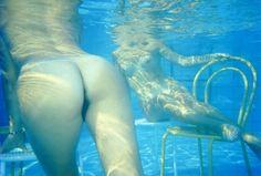 Clinio & Biavati IV, swimming pool, Bologna, Italy, 1987, by Franco Fontana
