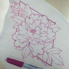I like the peony budding Japanese Flower Tattoo, Japanese Flowers, Flower Outline, Flower Art, Mini Tattoos, Flower Tattoos, Tattoo Sketches, Tattoo Drawings, Chicago Tattoo Shops
