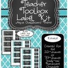 A full set of editable labels for the Teacher Toolbox that has been circulating on Pinterest. Combine multiple colors to match your classroom theme...