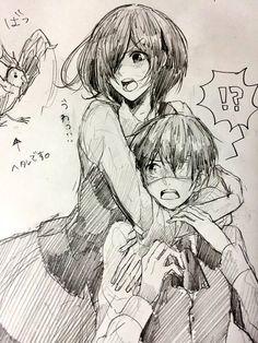 Touka Kirishima and Kaneki Ken - Tokyo Ghoul