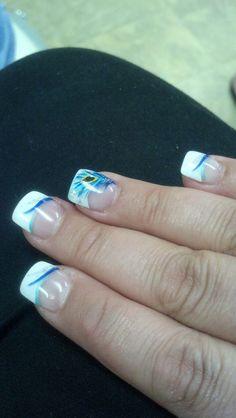 Peacock wedding nails!