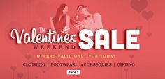 Buy the perfect Gift! The Valentines Weekend Sale at Snapdeal - Up to 60% OFF on Gifts, Apparels   #Snapdeal #Valentine #Love #Shopping #Gift #India #Apparels #Clothing #Footwear