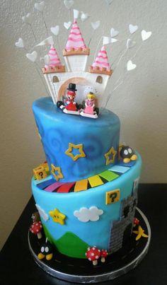 Mario Kart Wedding Cake cake-whimsy.com