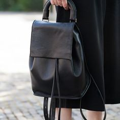 Fancy - Clean Leather Backpack by Topshop
