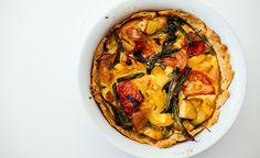 Vegansk quiche med kikertmel og tofu