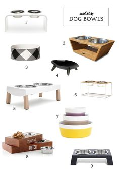 Awesome Modern Dog Bowls
