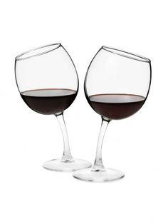 Tipsy Wine Glasses by Richard Bishop LTD - ShopKitson.com