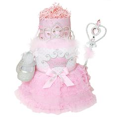 Perfect Princess Diaper Cake