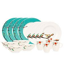 Simply Fine Lenox® Chirp 16-Piece Dinnerware Set - Absolutely adorable!!