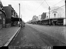 Botany Rd,Mascot in the south eastern suburbs of Sydney in 1938.