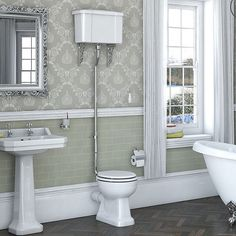 Camberley High Level Toilet including Luxury White MDF Soft Close Seat - https://victoriaplum.com/product/regency-high-level-toilet-inc-luxury-white-mdf-seat-reghlwh