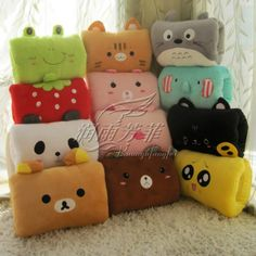 National Day gifts Multifunction Cartoon warm hand over Pillow Cushion Hand Po office pillow nap pillow Pashui