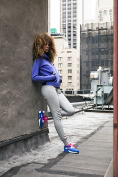 "everythingyoulovetohate: "" Britney Watkins, APM NYC, Nike Sportswear, Mid Town, New York by Scott Turner Flickr 