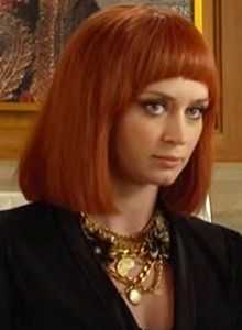 Emily Blunt in The Muppets. Love the red wig.