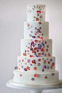Different but pretty! === Wedding Cakes from Amy Beck Cake Design - MODwedding